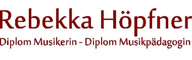 Dipl. Musik Pädagogin Rebekka Höpfner